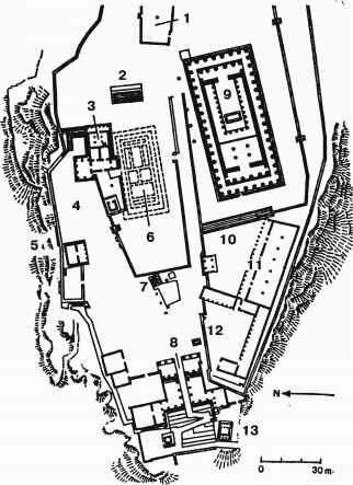 План Афинского Акрополя в V в.